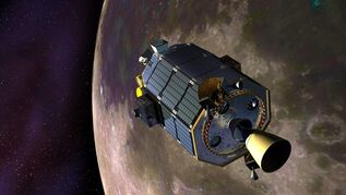 In this artist's concept provided by NASA the Lunar Atmosphere and Dust Environment Explorer (LADEE) spacecraft is seen orbiting the moon as it prepares to fire its maneuvering thrusters to maintain a safe orbital altitude. NASA's small moon-orbiting spacecraft LADEE (pronounced LAH'-dee) is no more. Flight controllers confirmed early Friday April 18, 2014 that LADEE crashed into the back side of the moon. (AP Photo/NASA, Dana Berry) Credit: NASA Ames / Dana Berry ----- What is LADEE? The Lunar Atmosphere and Dust Environment Explorer (LADEE) is designed to study the Moon's thin exosphere and the lunar dust environment. An