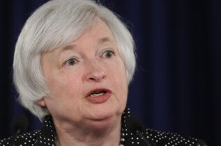 FILE - In this June 18, 2014 file photo, Federal Reserve Chair Janet Yellen speaks during a news conference at the Federal Reserve in Washington. Yellen gives the keynote speech to open the annual conference of central bankers in Jackson Hole, Wyo. on Friday, Aug. 22, 2014. (AP Photo/Susan Walsh, File)