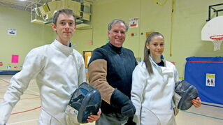 Tate (from left), Robert and Lane Hornford are all among the top fencers in Manitoba.
