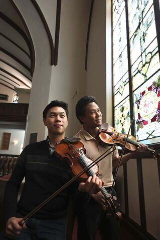 RUTH BONNEVILLE / WINNIPEG FREE PRESS FILES</p><p>Canadian violinists Nikki Chooi (right) and Timothy Chooi make a return appearance with the MCO in June 2021. The musician brothers joined the orchestra in concert last year.</p></p></p>
