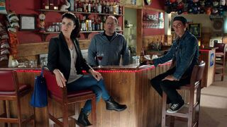From left, Gabrielle Miller, Brent Butt and Fred Ewanuick star in Corner Gas: The Movie.