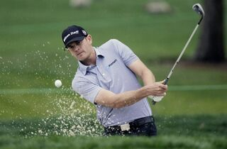 Brendan Steele birdies the second hole from the sand trap during the second round of the Honda Classic golf tournament, Friday, Feb. 27, 2015 in Palm Beach Gardens, Fla. (AP Photo/Luis M. Alvarez)