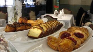 Some of the pastries at the breakfast buffet at the Fort Garry Hotel.