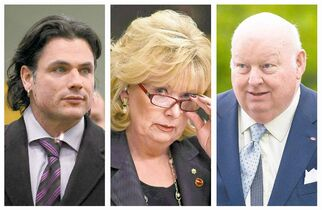 From left: Patrick Brazeau, Pamela Wallin and Mike Duffy have all experienced controversy since being appointed senators.