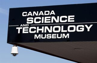 The sign for the Canada Science and Technology museum in Ottawa is seen on Friday, November 12, 2010. One of Ottawa's major museums is closing for an indefinite period due to unacceptable levels of airborne mould. THE CANADIAN PRESS/Pawel Dwulit