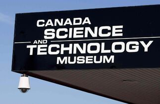 The sign for the Canada Science and Technology museum in Ottawa is seen in an file photo. One of Ottawa's major museums is closing for an indefinite period due to unacceptable levels of airborne mould.