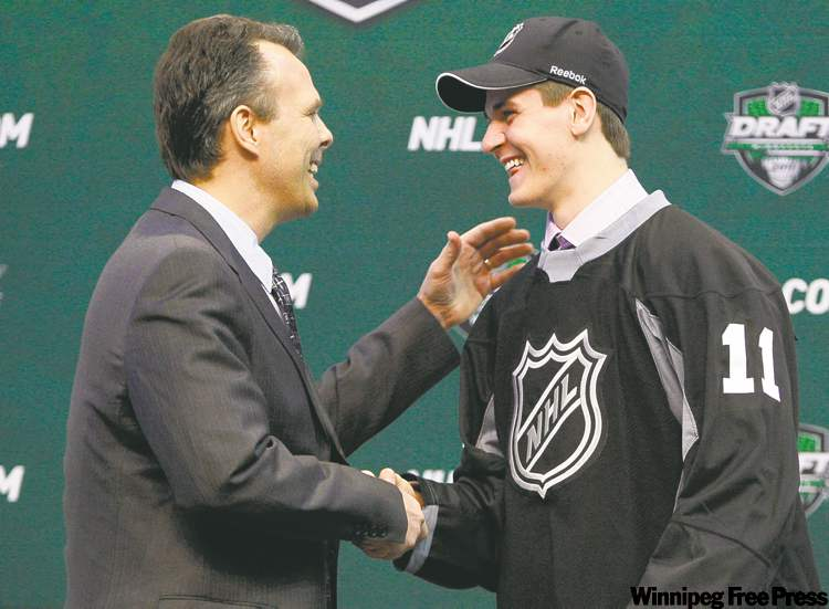 More than a few jaws dropped with the selection of Mark Scheifele by the Winnipeg Jets Friday in St. Paul. The draft capped a meteoric rise for the Barrie Colt.`