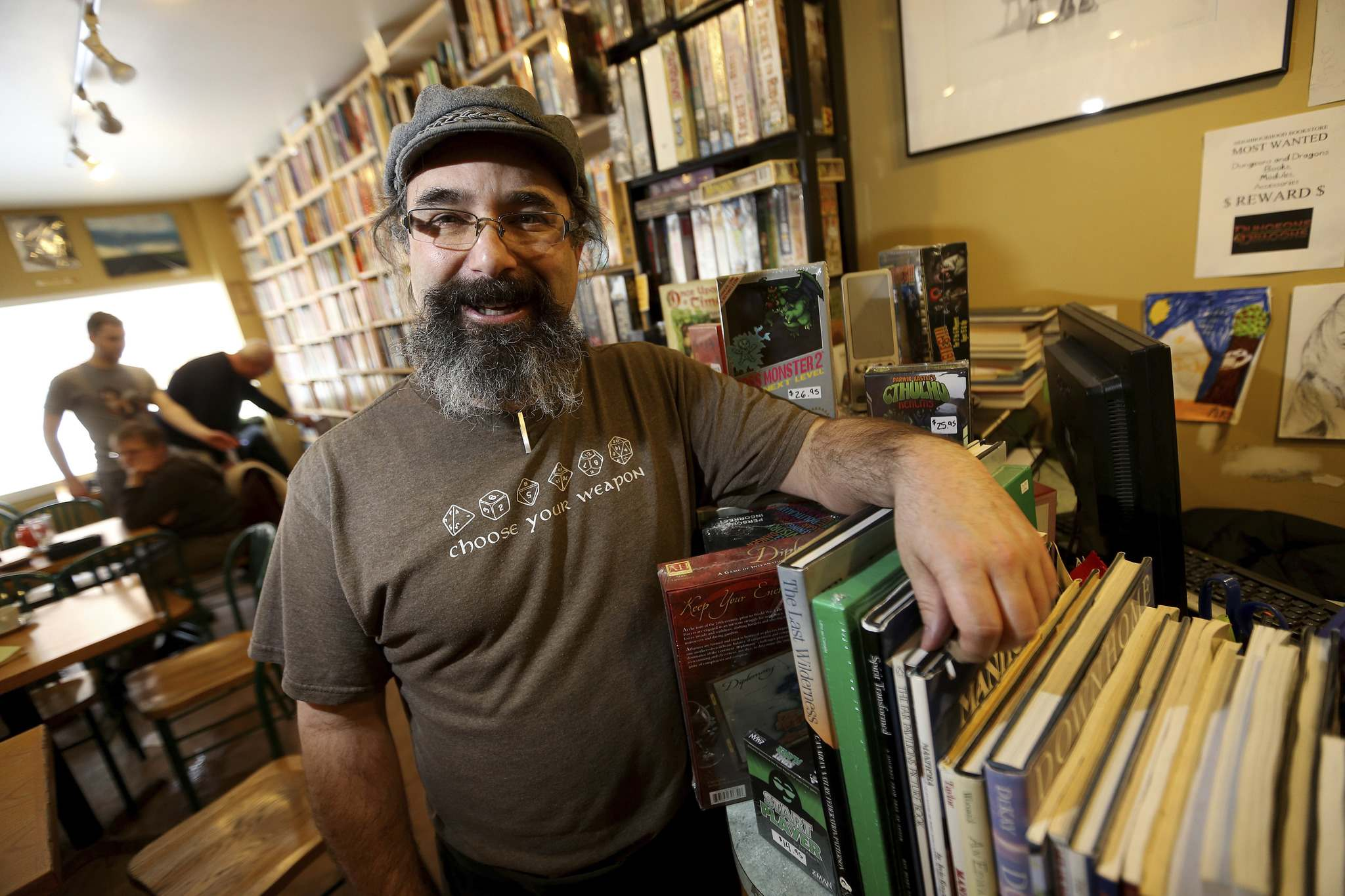 TREVOR HAGAN / WINNIPEG FREE PRESS Bill Fugler owns the Neighbourhood Book Store & Café.