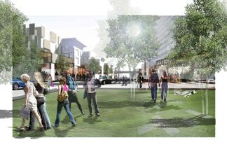 Cibinel Architects' proposal for a mixed-use project at the old stadium site lost out to the Target store.