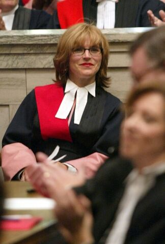 WAYNE GLOWACKI / WINNIPEG FREE PRESS FILES</p>The Canadian Judicial Council has found that Manitoba Court of Queen's Bench Justice Colleen Suche, shown here at a swearing-in ceremony in 2002, was wrong to join her cabinet-minister husband, Winnipeg South Centre MP Jim Carr, in weighing in on Ottawa's selection of judges.