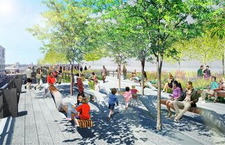 "In this undated artist rendering provided by the ""Friends of the High Line,"" the High Line's Grasslands Grove looking west along 30th Street in New York is shown. The final stretch of the High Line will open to the Public on Sunday, Sept. 21, 2014. (AP Photo/James Corner Field Operations, Diller Scofidio + Renfro.) NO SALES"