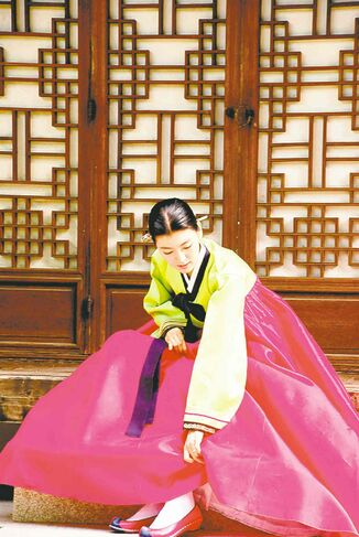 Elaborate, traditional silk dresses called hanbok are now worn mostly for weddings and Korean holidays.