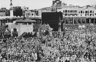 FILE- In this Sept. 24, 1951 file photo, thousands of Muslims perform the Hajj pilgrimage in Mecca, Saudi Arabia. As Muslims from around the world stream into Mecca for the annual hajj pilgrimage this week, they come to a city undergoing the biggest transformation in its history. (AP Photo, File)