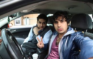 Actors Vinay Virmani and Kunal Nayyar (right) are seen in an handout photo from the film 'Dr. Cabbie.' THE CANADIAN PRESS/ HO, eOne Flims