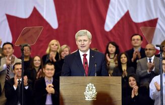Prime Minister Stephen Harper makes an announcement in Richmond Hill, Ont., on Friday, Jan. 30, 2015. THE CANADIAN PRESS/Frank Gunn