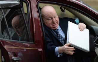 Suspended senator Mike Duffy arrives at court in Ottawa on Monday, April 27, 2015. Duffy is facing 31 charges of fraud, breach of trust, bribery, frauds on the government related to inappropriate Senate expenses. THE CANADIAN PRESS/Sean Kilpatrick