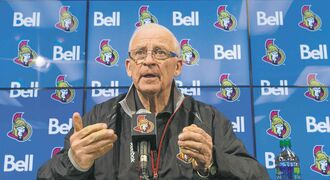 Ottawa Senators general manager Bryan Murray spoke out about his colon cancer late last year.