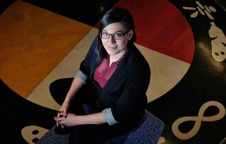 Mike Deal / Winnipeg Free Press files Sadie Lavoie, the Aboriginal Student Commissioner for the Canadian Federation of Students, was heavily involved in getting an indigenous course proposal approved at the U of W.