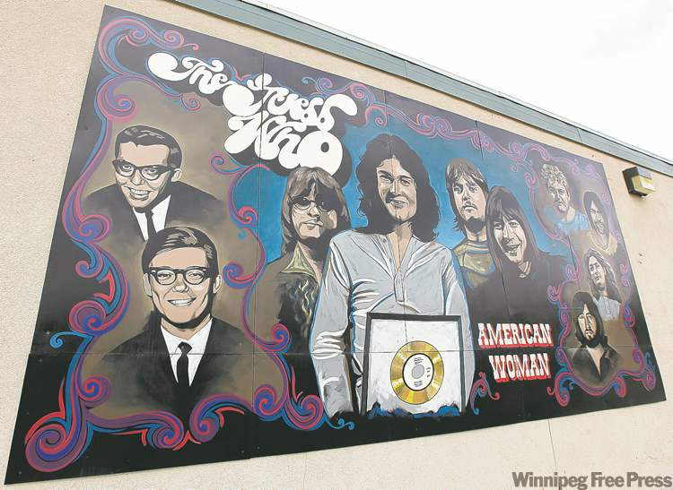 The many faces and members of the Guess Who have been immortalized on a Stafford Street mural.