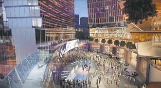True North's proposal for True North Square, a $400-million plan to build two towers and a public square on an MPI-owned parking lot at 225 Carlton St., and a third tower on the CentreVenture-owned Carlton Inn site at 220 Carlton St.