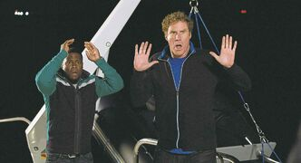 Kevin Hart (left) and Will Ferrell in Get Hard.