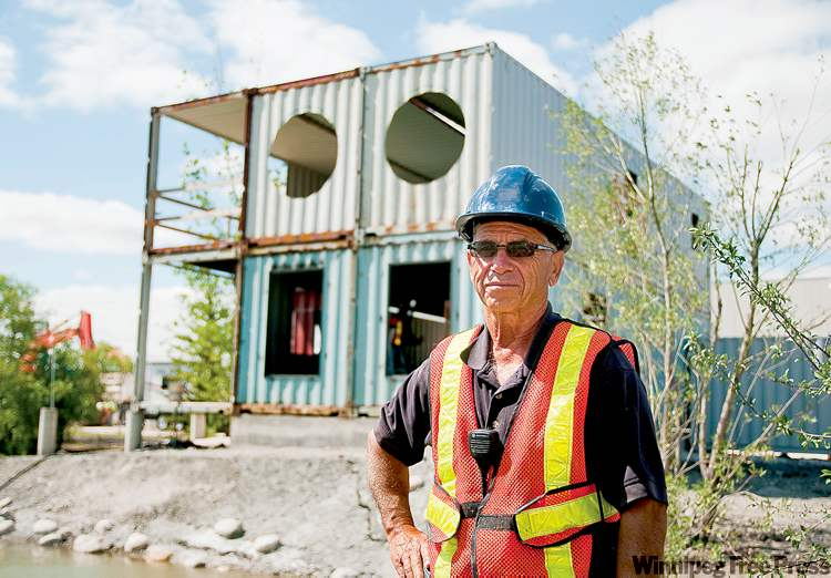Hadas Parush / Winnipeg Free PressMario Costantini, owner of the Fort Whyte Business Park and ADM Storage, stands near the steel shipping containers that will become his new home.