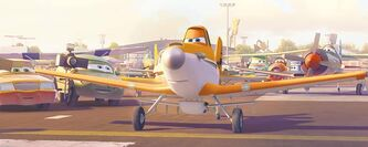Dusty Crophopper, voiced by comedian Dane Cook, in Planes.