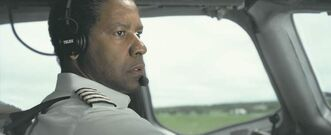 Denzel Washington as Whip Whitaker in Flight.