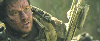 Mark Wahlberg portrays navy SEAL Marcus Luttrell, whose memoir was adapted for Lone Survivor.