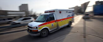 Manitoba's potholed roads and streets are hard on patients in ambulances and those attending to them, the paramedic association says.