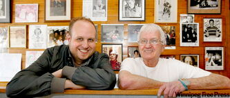 Miles Gould (left) will open a pub where Tubby's Restaurant is now. Tubby's owner Charlie Clements has sold the iconic Crescentwood eatery after more than 40 years in business.