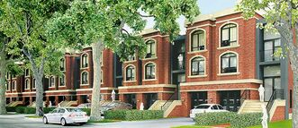 High-end brownstone condominiums would replace five small bungalows on Woodrow Place.