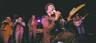 Bradley  lets loose  on stage  in a scene  from the  emotional doc Charles Bradley: Soul of America.