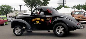 Fresh out of Iowa, the Coalville Kid is a hopped-up '40 Willys coupe that looks ready to race.