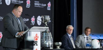 Wade Miller, left, insists there will be no extra incentive to host and play in the 2015 Grey Cup game.