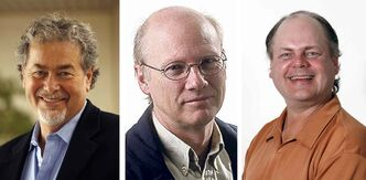 Gordon Sinclair Jr., left, Bill Redekop and Randy Turner, right, earned nominations for the 2013 National Newspaper Awards.