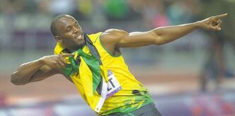 Jamaica's Usain Bolt celebrates his gold medal finish in the 200-metre final at the 2012 Summer Olympics in London on Thursday, August 9, 2012. THE CANADIAN PRESS/Sean Kilpatrick