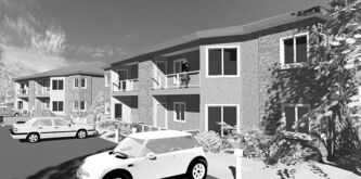 Red Oak Condominiums will feature large balconies and patios along will a low-maintenance cultured-stone and acrylic-stucco exterior finish.