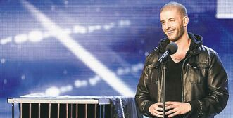 Above,  Winnipeg's Darcy Oake  is headed  to the finals  on Britain's  Got Talent.