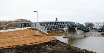 The new footbridge that crosses the Icelandic River in Riverton.