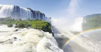 The Iguazu Falls, a spectacular canyon of 275 waterfalls that reach heights of 80 metres, was declared a World Heritage Site by UNESCO in 1984.