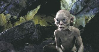 Gollum in a scene from the fantasy adventure The Hobbit: An Unexpected Journey.