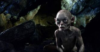 Gollum, voiced by Andy Serkis, in a scene from