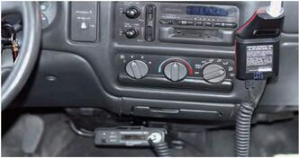 An ignition interlock is seen installed in a car in a photo provided by Manitoba Public Insurance.