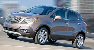 The Buick Encore hopes to attract new buyers by combining small size with an upscale interior.