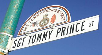 Sgt. Tommy Prince Street sign at Selkirk  Avenue is one of many city landmarks that will have information a few clicks away on the NOW portal.