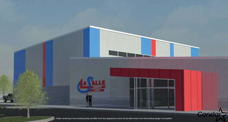 An architect's conceptual drawing of the new community centre to be built in La Salle.