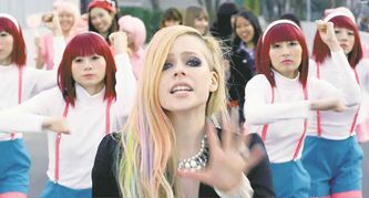 A scene from Lavigne's controversial Hello Kitty video. She has dismissed suggestions that the images are offensive.