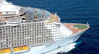 Royal  Caribbean topped the best for entertainment category in Cruise Critic's 2013 editors' picks award. Pictured is the  Allure of the Seas.