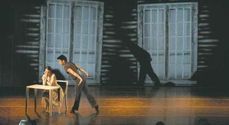 Jo-Ann  Sundermeier and Yosuke Mino in  The Doorway: Scenes From Leonard Cohen.